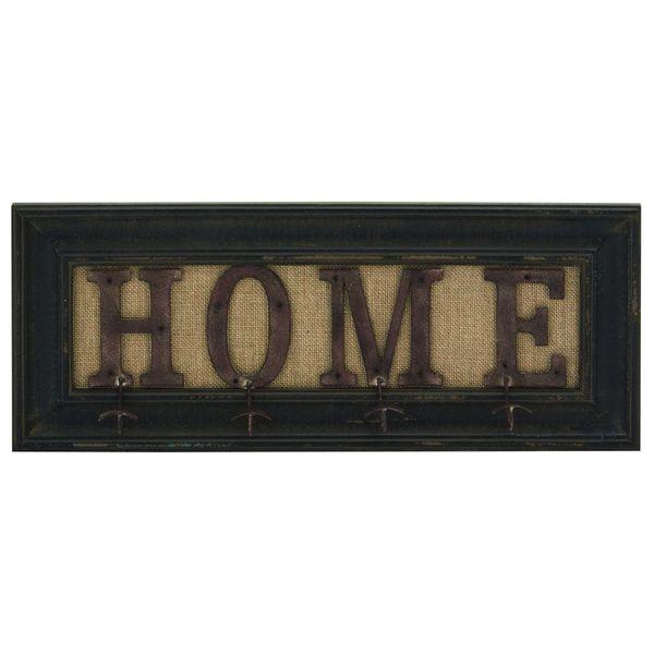 Wood, Metal, 24-inchW, 10-inchH Wall Hook -  UMA Enterprises, 20413