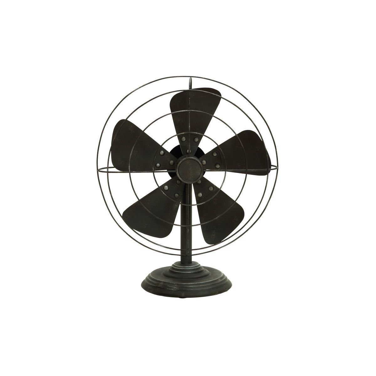 Studio 350 Metal 18-inchH, 15-inchW Non-Functional Fan (M...