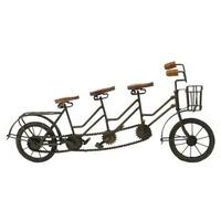 Copper Grove Chatfield Rustic Iron Tri-seat Bicycle Replica