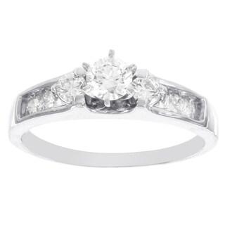 H Star 14k White Gold 3/4ct TDW Diamond Engagement Ring (I-J, I2-I3)