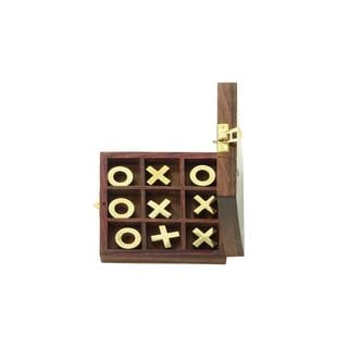Wood and Brass Tic-tac-toe