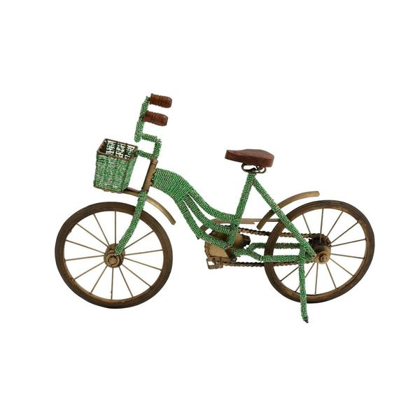The Curated Nomad Cardillo Green Metal and Plastic Bicycle Figurine