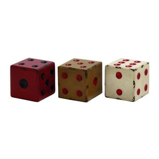 Assorted Wood 4-inch x 4-inch Decorative Dice (Pack of 3) - Thumbnail 0