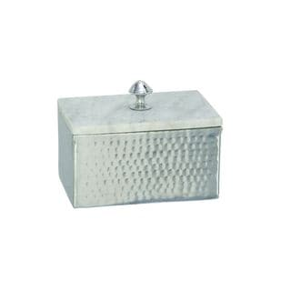 Rustic Reflections Aluminum and Marble Box