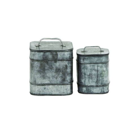 The Gray Barn Jartop Silver Distressed Metal Boxes