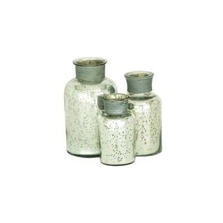 The Gray Barn Joyful Stream Modern Reflections Rustic Painted Mottled Apothecary Jars (Set of 3)