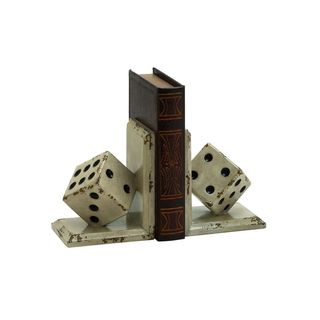 Copper Grove Chatfield Wood Dice Bookends