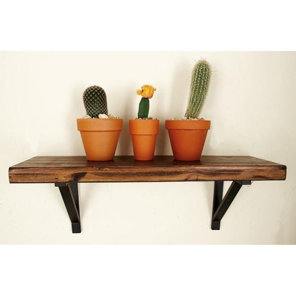 Wood and Metal Wall Shelves (Set of 3)