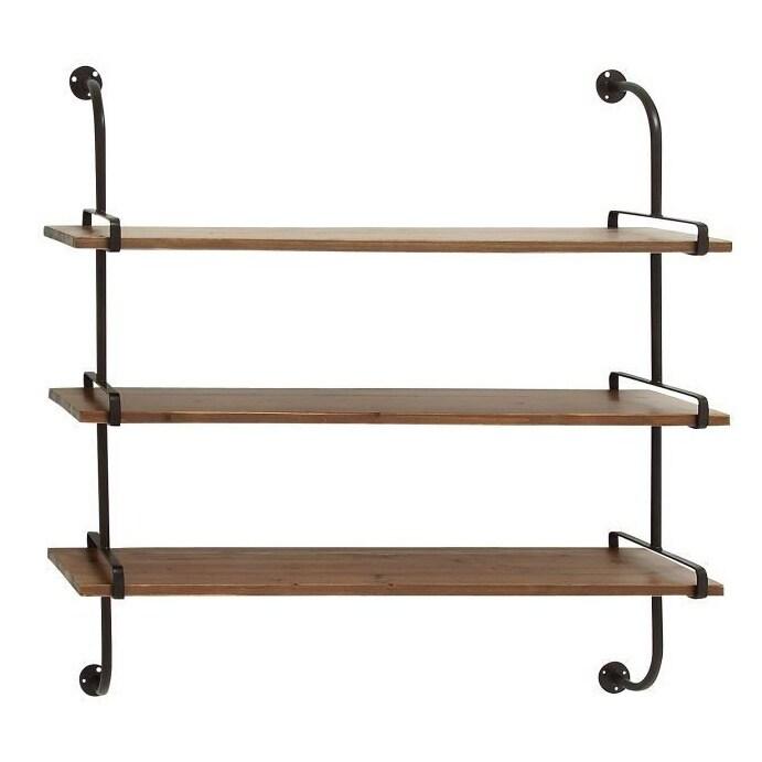 Rustic 3-shelf Wall Rack