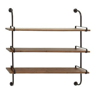 Rustic 3-shelf Wall Rack
