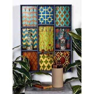 New Traditional Rustic Wood Cubbyhole Wall Shelf