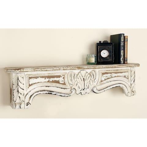 Rustic Elegance 36-inch Wood Wall Shelf - Green