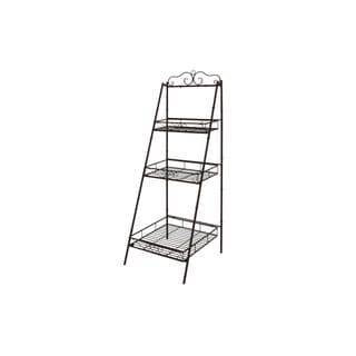 Metal 3-tier Shelves (59-inchH x 21-inchW)