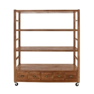 Wood 58-inch Wide x 69-inch High Rolling Shelf