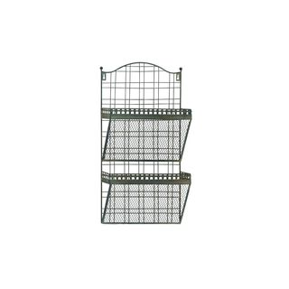 Metal Wall Magazine Holder 24 Inches High x 13 Inches Wide