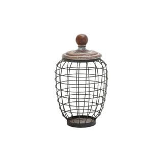 Globe Trotter Rustic Distressed-finish Iron Wire Cage Jar