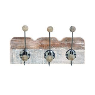 Wood/Metal 8-inch x 14-inch Wall Hook - Thumbnail 0