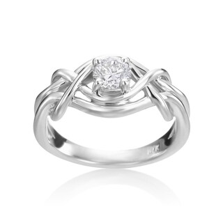 Andrew Charles 14k White Gold 1/2ct TDW Diamond Engagement Ring