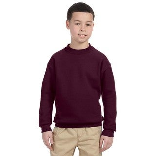 Super Sweats Boys' Maroon Crewneck Sweatshirt