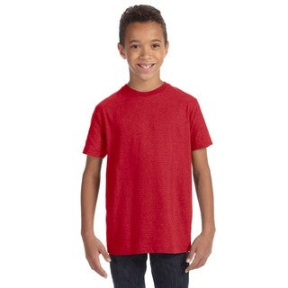 Youth Vintage Red Cotton/Polyester Jersey T-shirt
