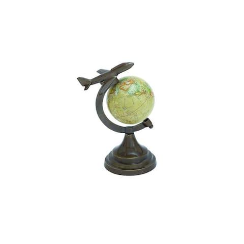 Copper Grove Lobata Aluminum Globe 10 Inches High x 7 Inches Wide