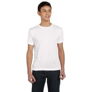 Sublivie Boys' Polyester T-Shirt White