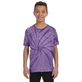 Boy's Spider Tie-Dyed Purple T-Shirt