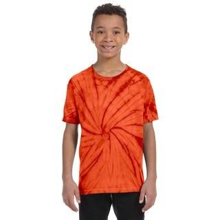 Boy's Orange Spider Tie-Dyed T-Shirt