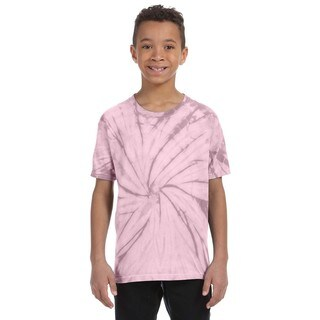 Boys' Spider Pink Cotton Tie-dyed T-shirt