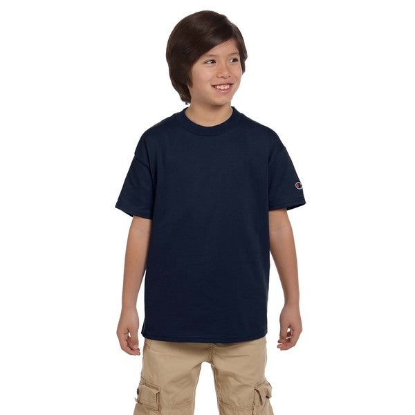 d3f681db1 Shop Champion Boys' Navy Blue Polyester/Cotton Jersey T-shirt - On Sale -  Free Shipping On Orders Over $45 - Overstock.com - 12177883