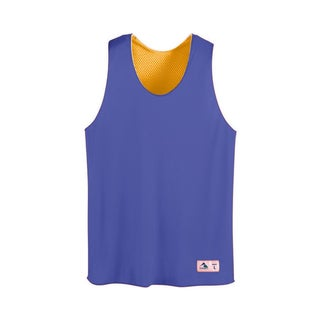 Tricot Mesh Boys Purple and Gold Reversible Tank