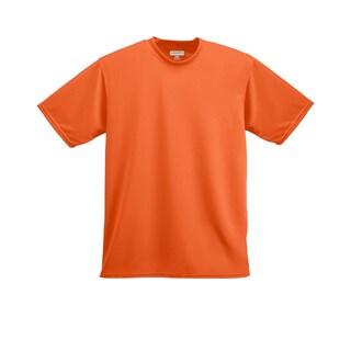 Boys' Orange Polyester Wicking T-shirt