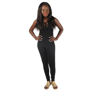 Hadari Woman's sexy fitted black jumpsuit