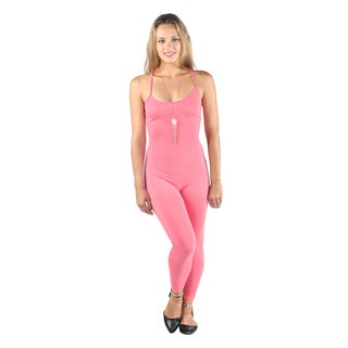Hadari Women's sexy fitted Coral jumpsuit