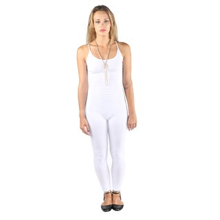 Hadari Woman's sexy fitted white jumpsuit (Option: L)