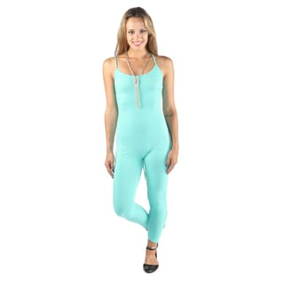 Hadari Woman's jade fitted jumpsuit