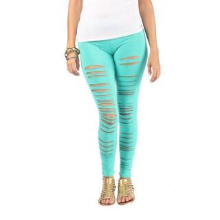 Hadari Woman's jade leggings
