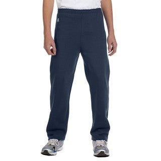 Dri-Power Boy's Navy Blue Cotton/Polyester Fleece Open-bottom Pant J