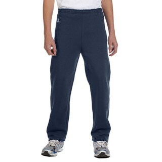 Dri-Power Boy's Navy Blue Cotton/Polyester Fleece Open-bottom Pant J