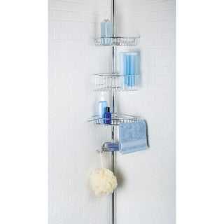 Chrome Lakeview 3-tier Tension Pole Shower Caddy