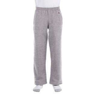 Youth Double Dry Action Light Steel Fleece Open Bottom Pants