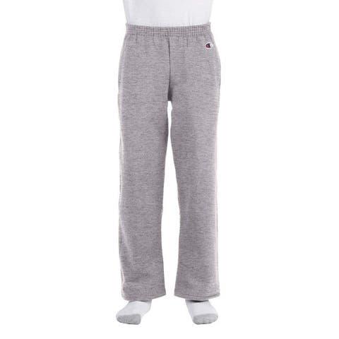 Youth Double Dry Action Light Steel Fleece Open Bottom Pants