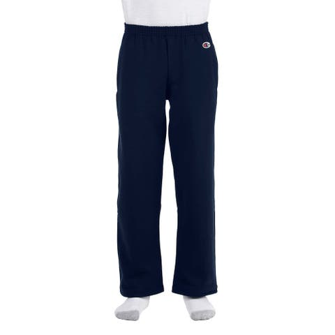 Youth Nacy Double Dry Action Fleece Open-bottom Pants