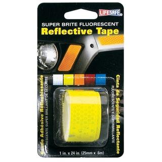 """Incom RE181 1"""" X 24"""" Lime Super Bright Fluorescent Reflective Tape"""