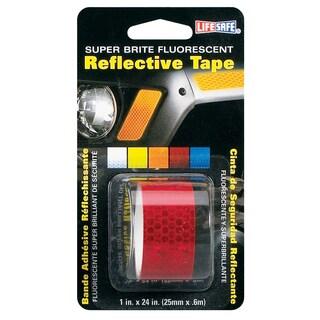 """Incom RE183 1"""" X 24"""" Red Super Brite Fluorescent Reflective Tape"""