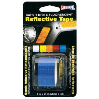 """Incom RE185 1"""" X 24"""" Blue Super Brite Fluorescent Reflective Tape"""