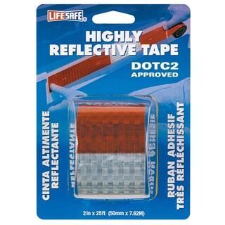 "Incom RE2125 2"" X 25' Red & Silver Highly Reflective Tape"
