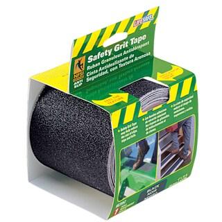 "Incom RE3952 4"" X 15' Black Gator Grip Anti Slip Safety Grit Tape"