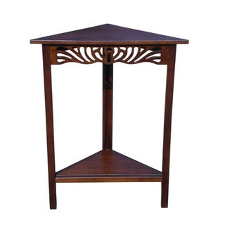Exceptionnel D Art CollectionHome Winston Mahogany Corner Wall Table