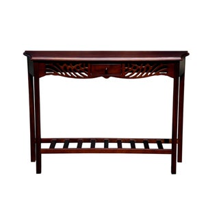 D-Art Collection Home Winston Mahogany Console Table